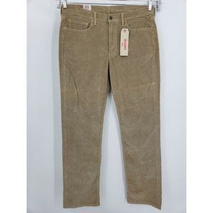 New Levis 514 Regular Straight Fit Corduroy Pants